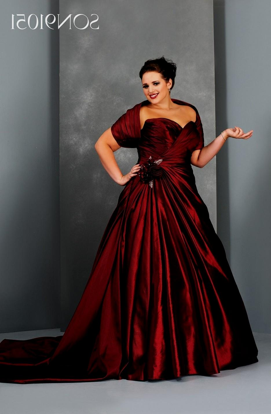 plus size black and red wedding dresses photo - 1