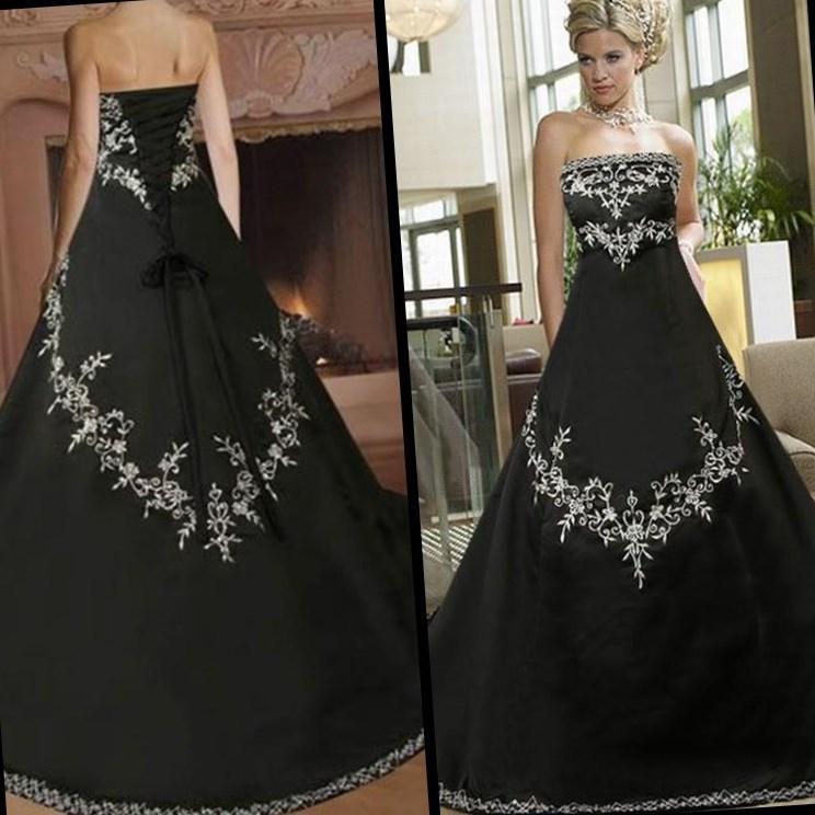 plus size black dresses for wedding photo - 1