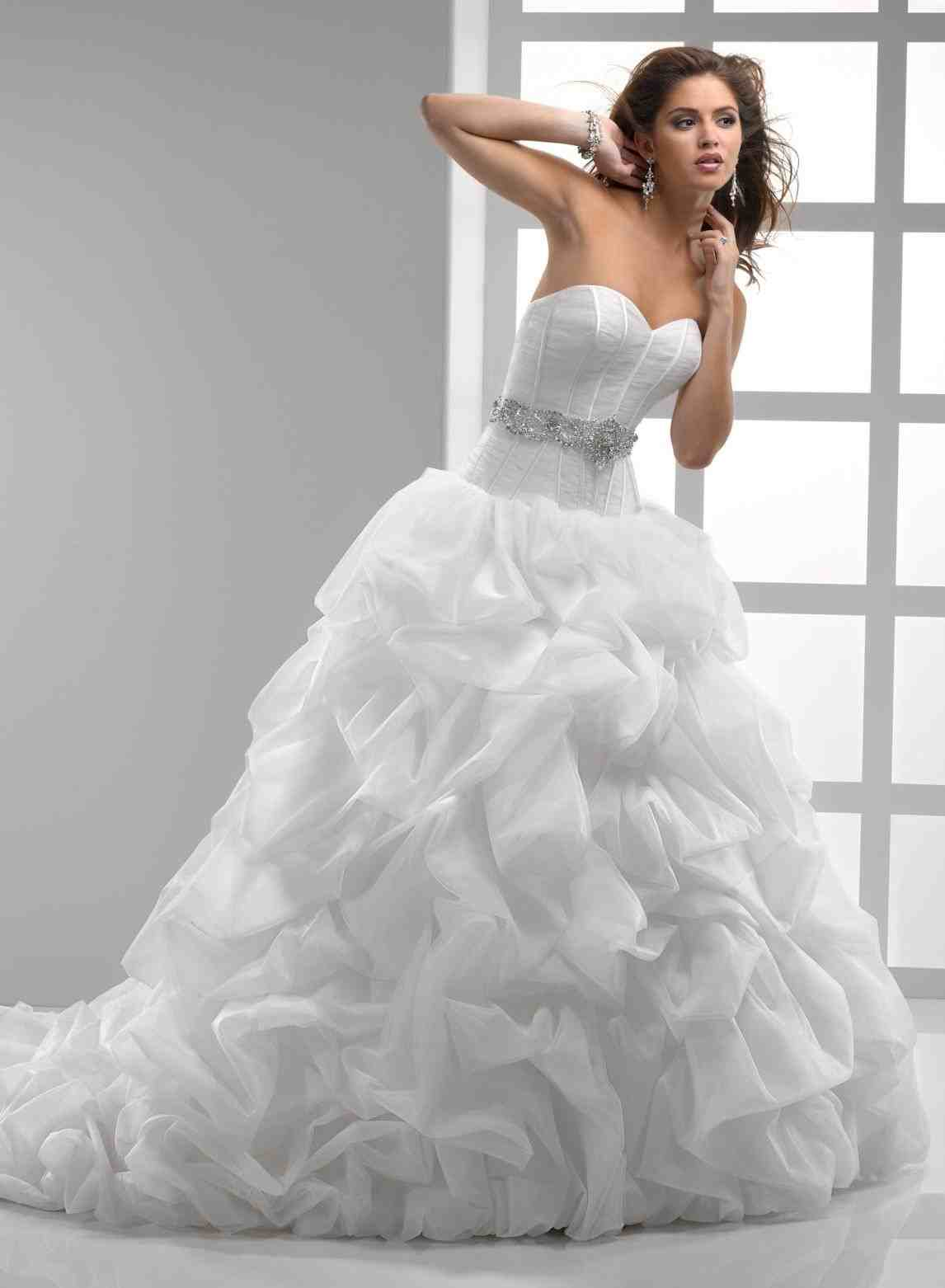 plus size bling wedding dresses photo - 1