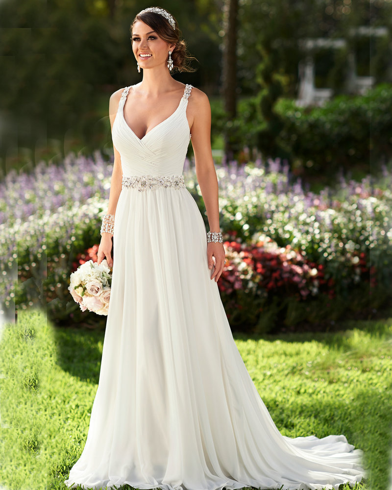 plus size chiffon wedding dresses photo - 1