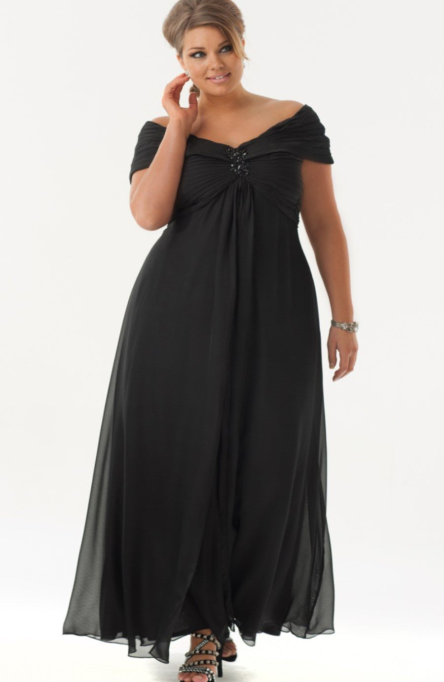 plus size elegant evening dresses photo - 1