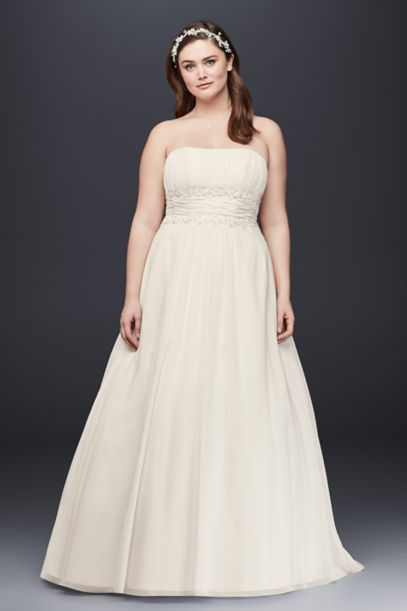plus size empire waist wedding dresses with sleeves photo - 1