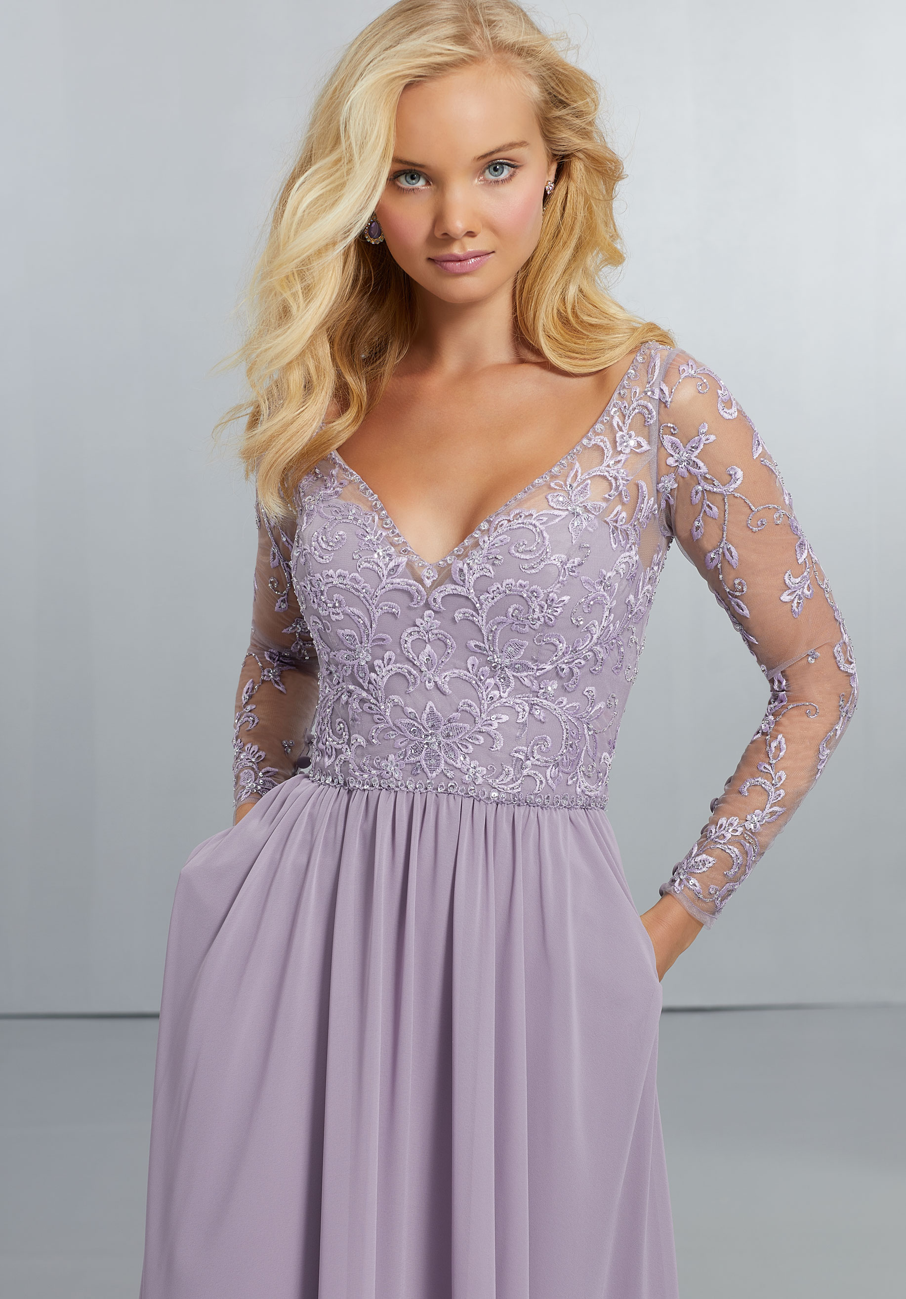 plus size evening dresses with sleeves photo - 1