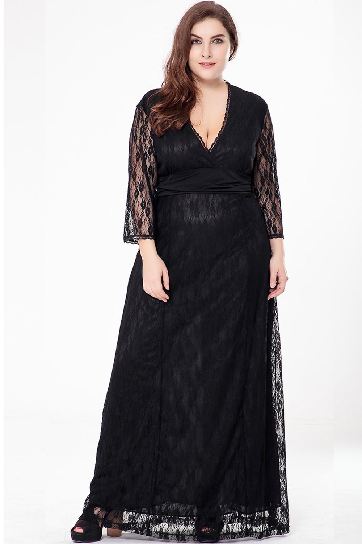 plus size evening maxi dresses photo - 1