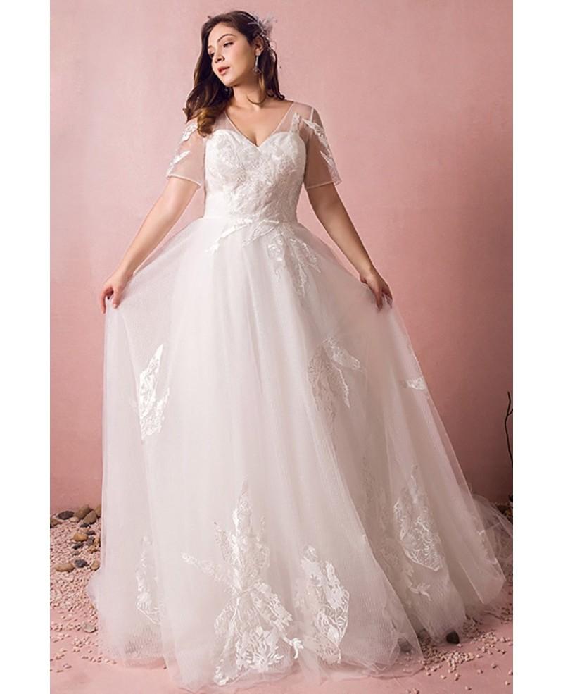 plus size flowy wedding dresses photo - 1