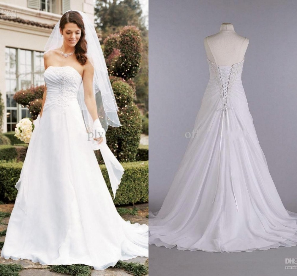 plus size garden wedding dresses photo - 1