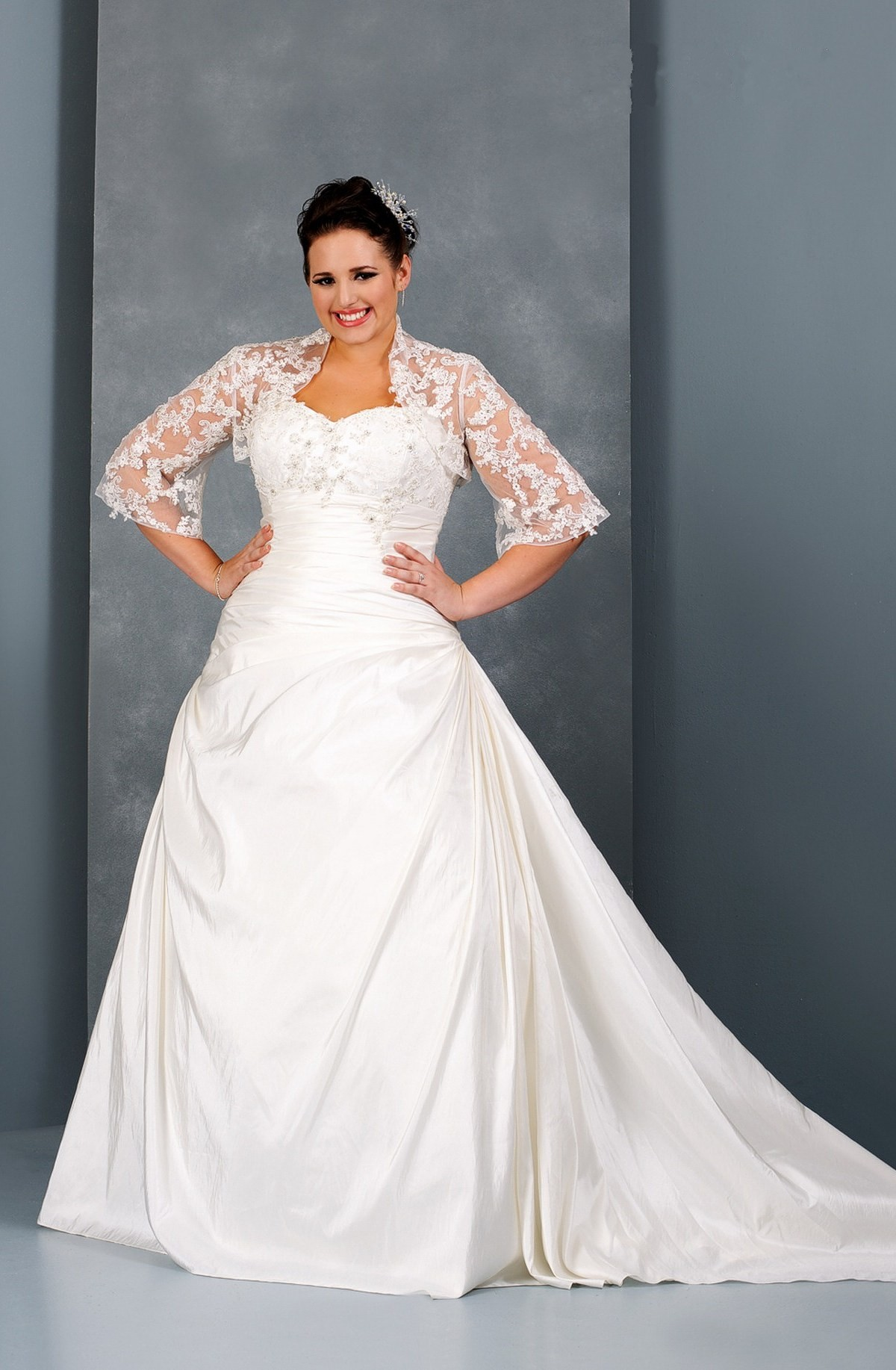 plus size high low wedding dresses photo - 1