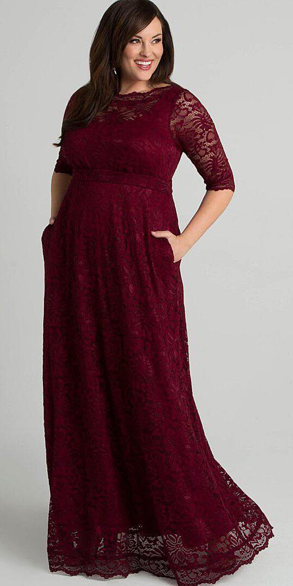 plus size long dresses for wedding guest photo - 1