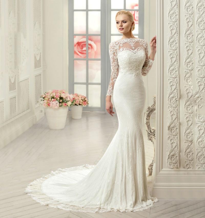 plus size long sleeve wedding dresses photo - 1