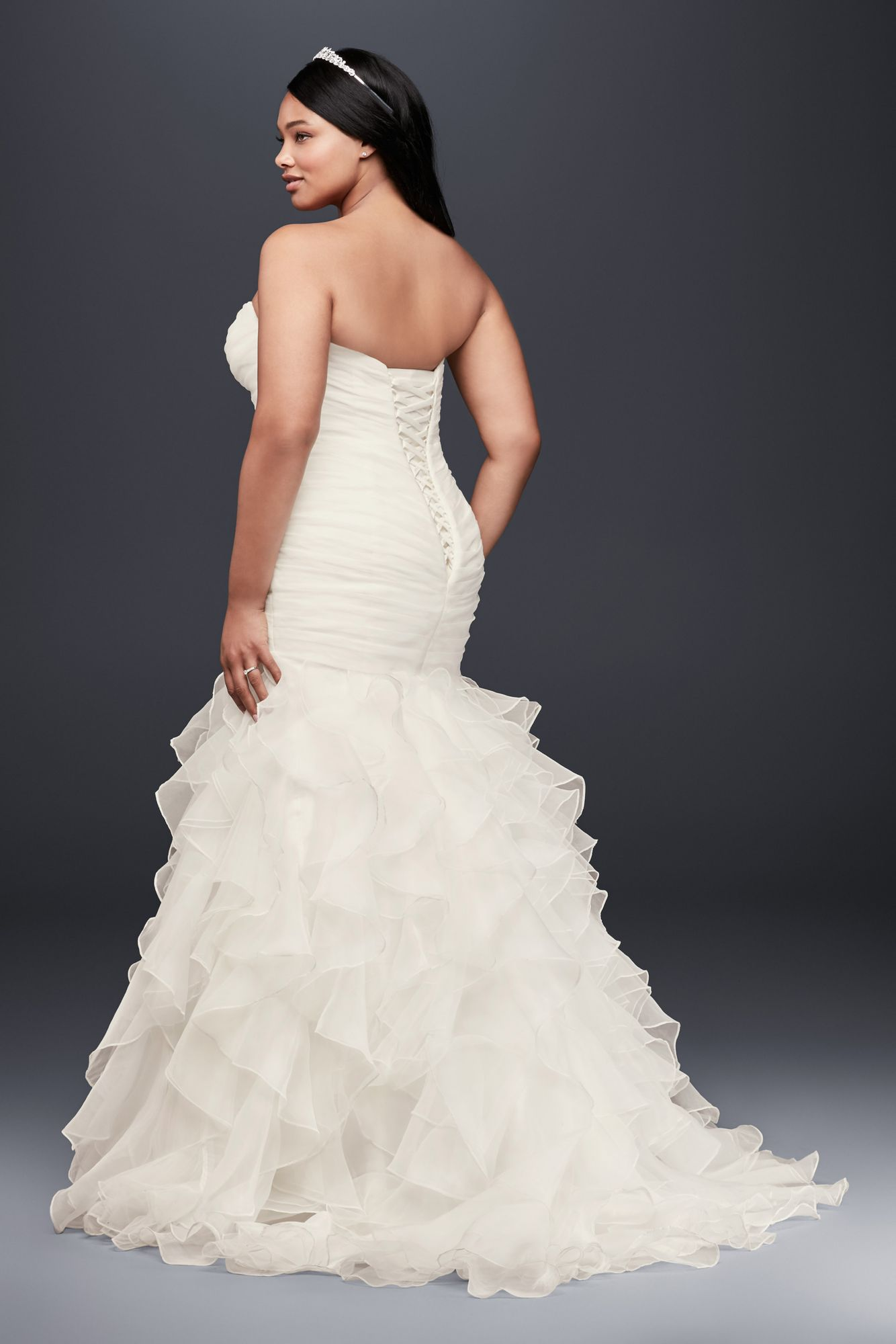 plus size mermaid wedding dresses photo - 1