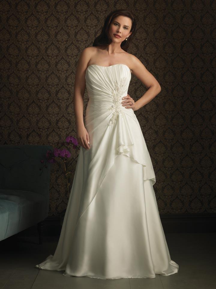 plus size rustic wedding dresses photo - 1