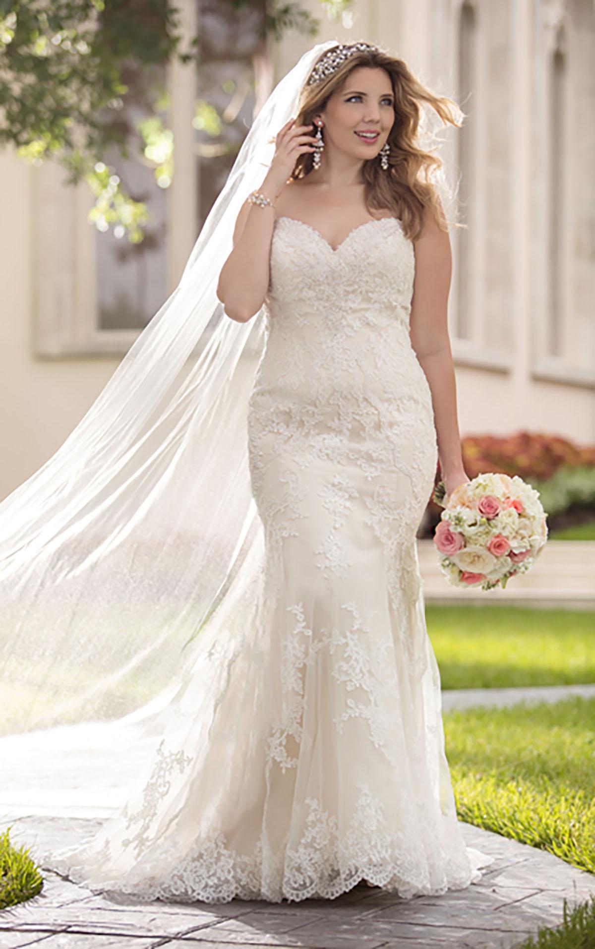 plus size strapless wedding dresses photo - 1