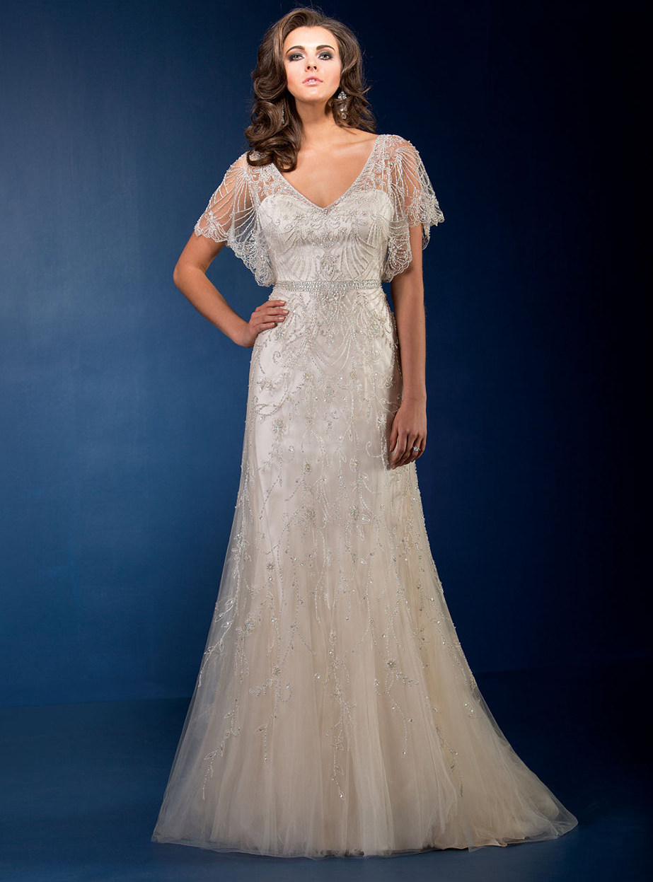 plus size wedding dresses for over 50 photo - 1