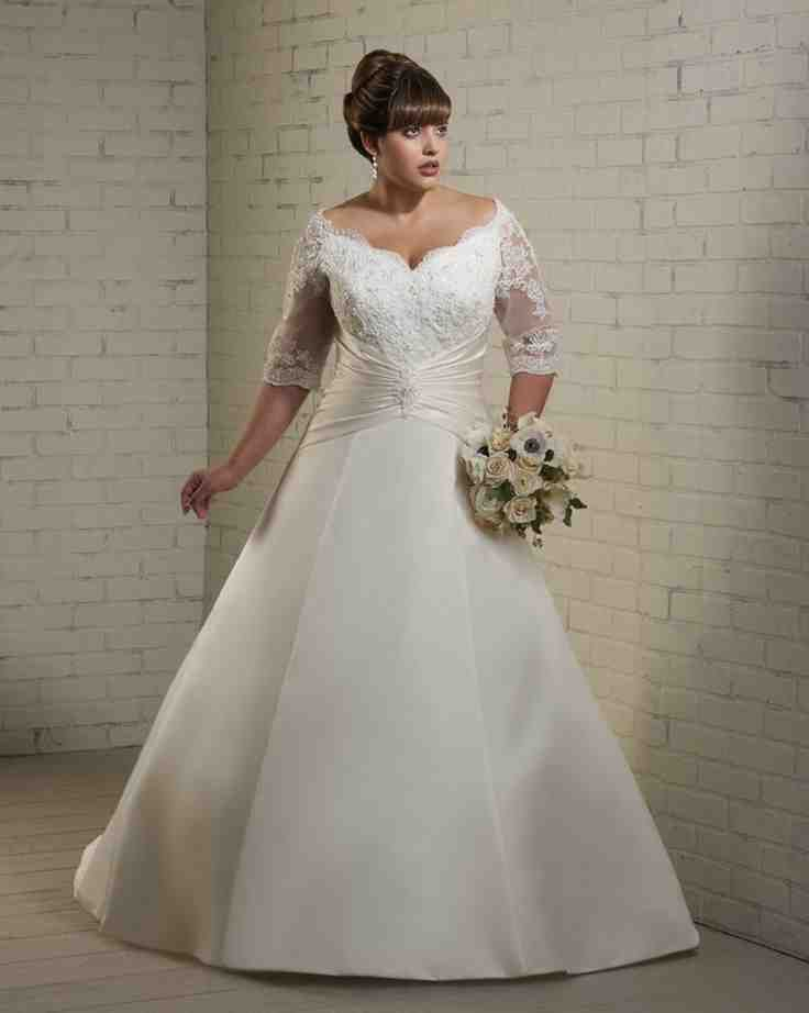 plus size wedding dresses under 100 dollars photo - 1
