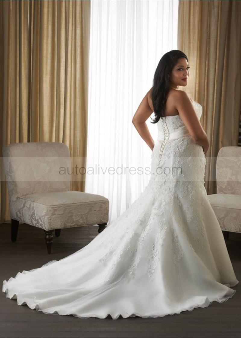 plus size wedding dresses with corset back photo - 1