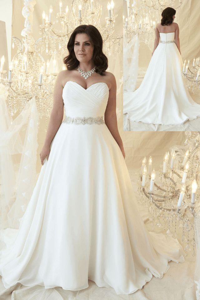 plus size wedding dresses with long trains photo - 1