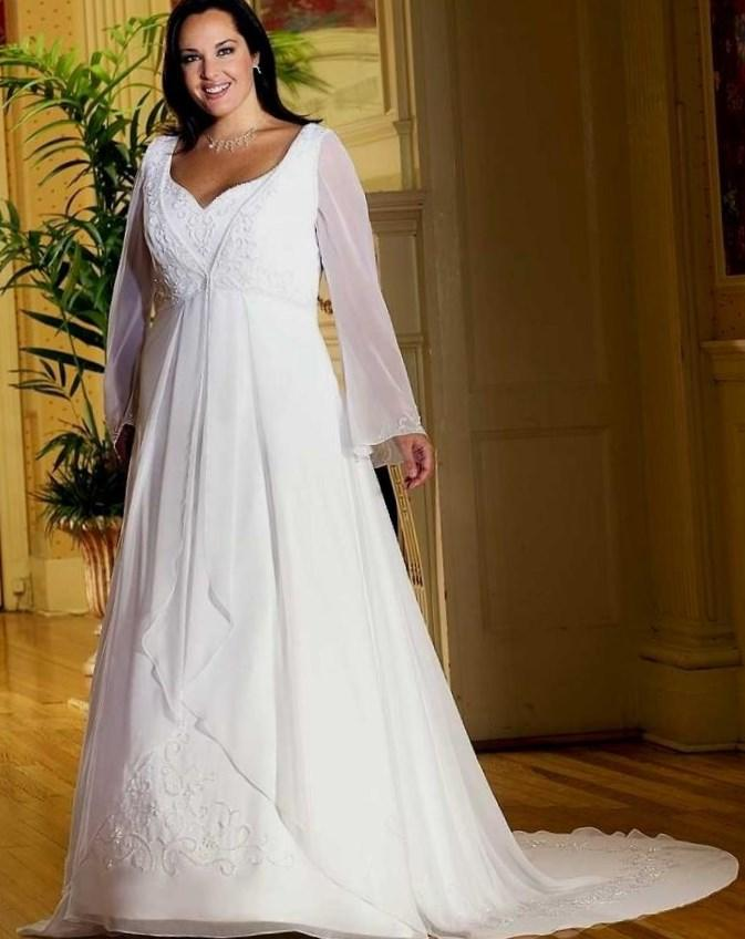 plus size western wedding dresses photo - 1