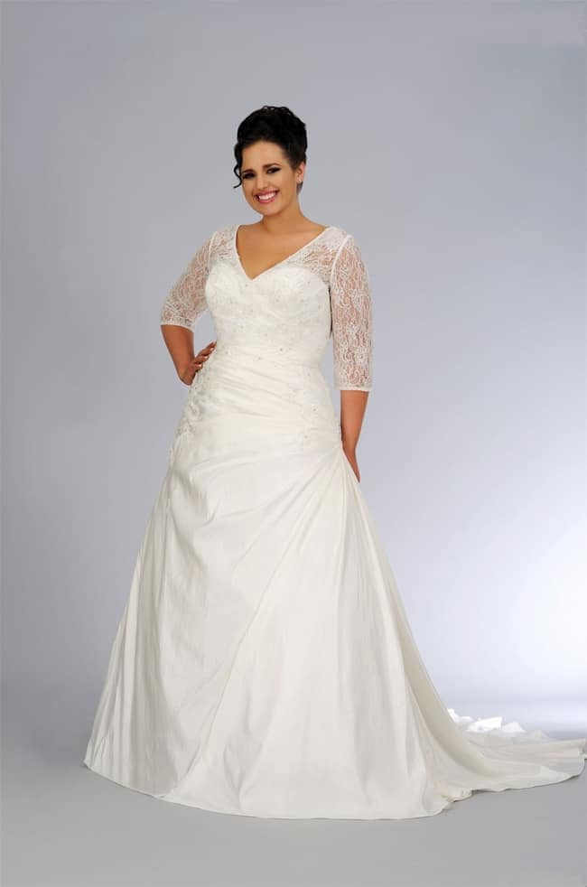 plus wedding dresses cheap photo - 1