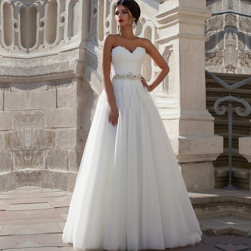 pretty white wedding dresses photo - 1