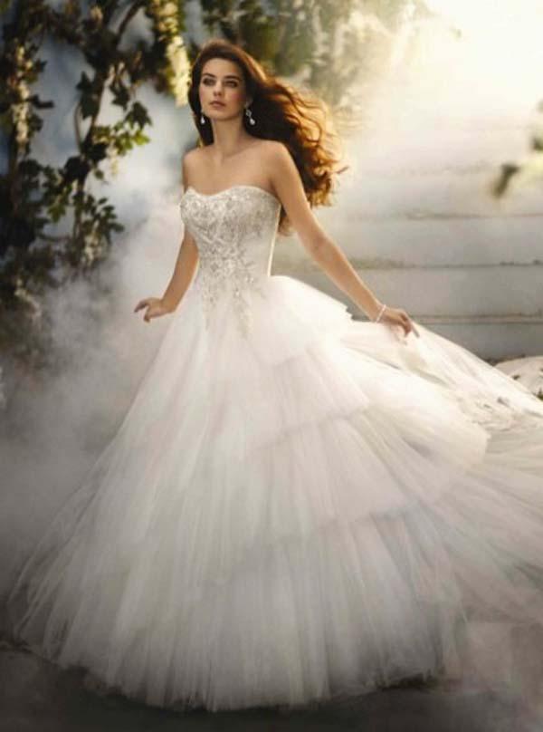 princess belle wedding dresses photo - 1