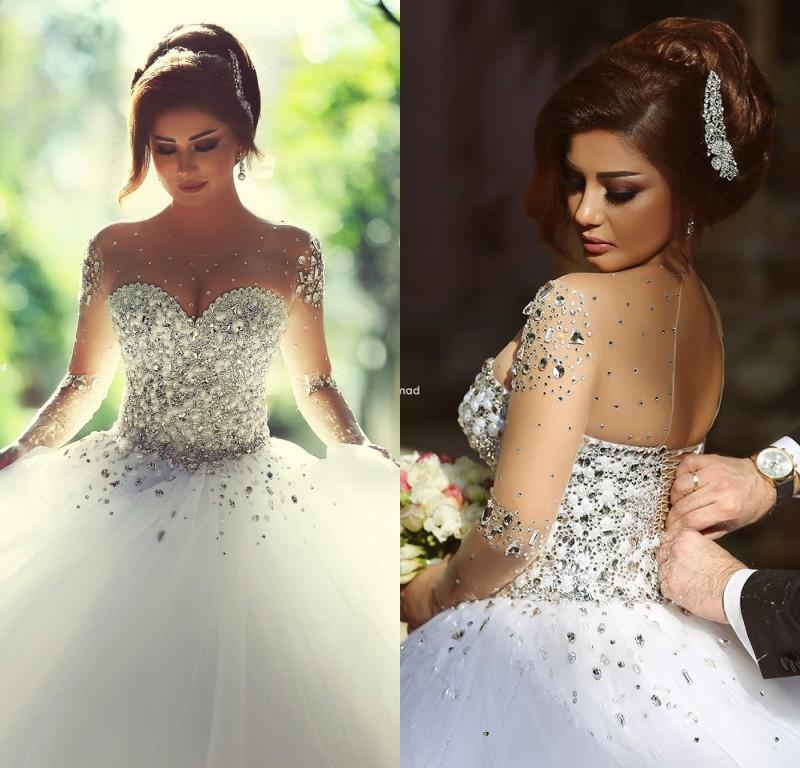 princess strapless wedding dresses with diamonds photo - 1