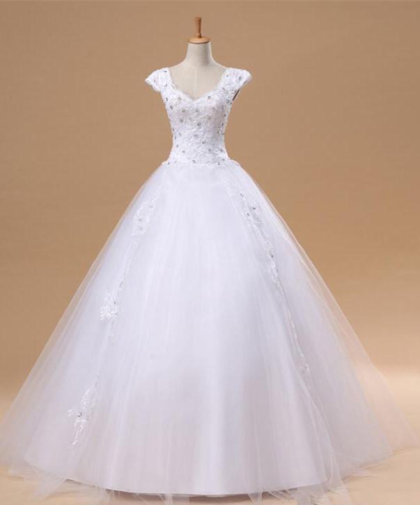 puffy wedding dresses photo - 1