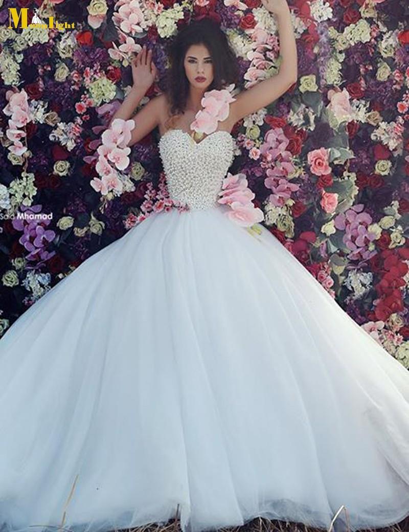 puffy wedding dresses with diamonds photo - 1