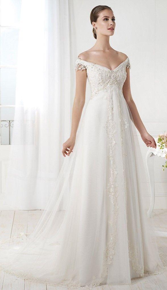 purple and white wedding dresses photo - 1