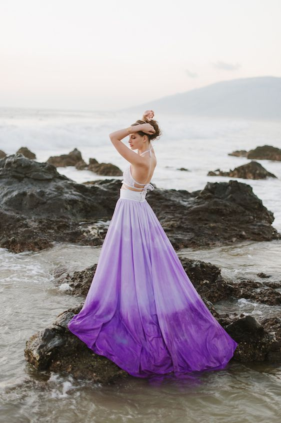 purple dresses for a wedding photo - 1