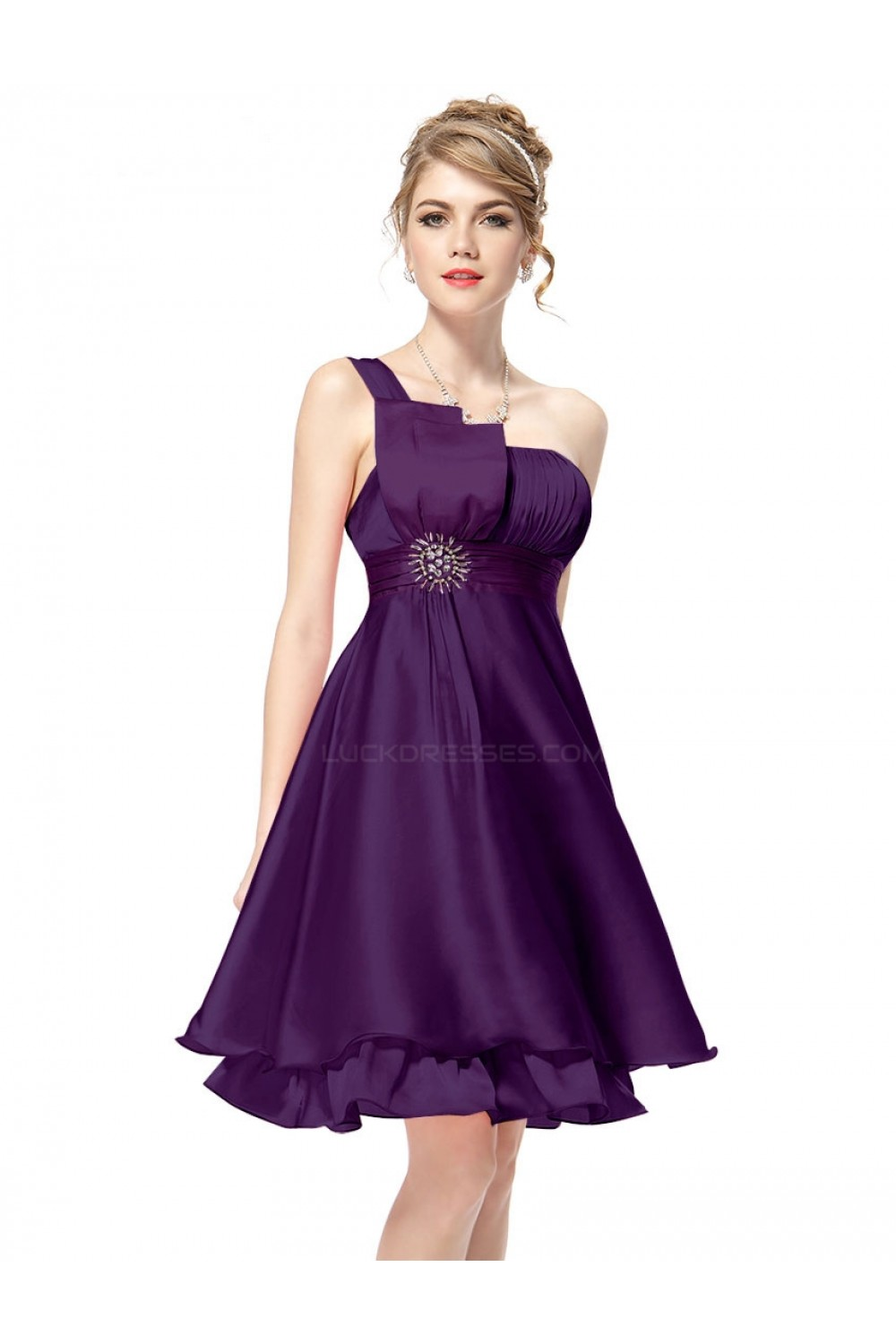 purple dresses for wedding party photo - 1