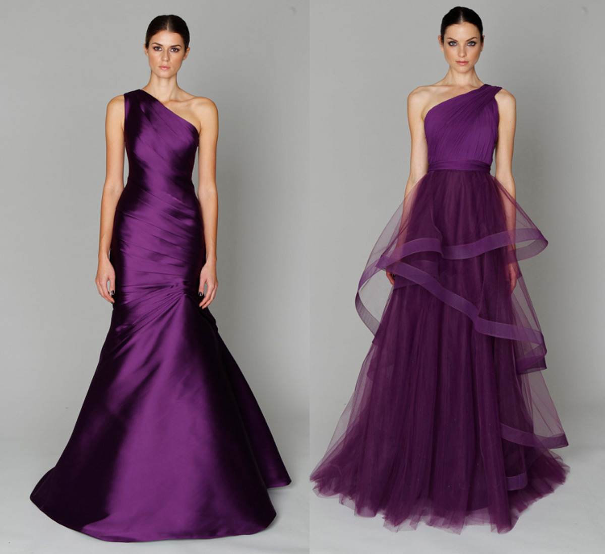 purple evening dresses photo - 1