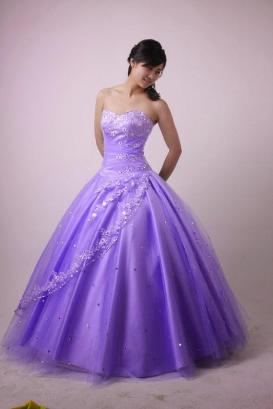 purple wedding dresses for brides photo - 1