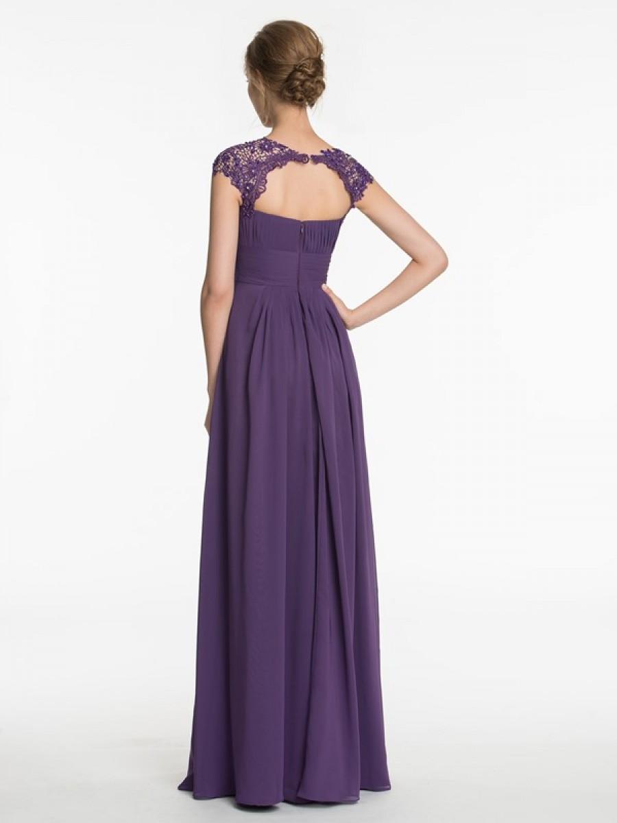 purple wedding guest dresses photo - 1