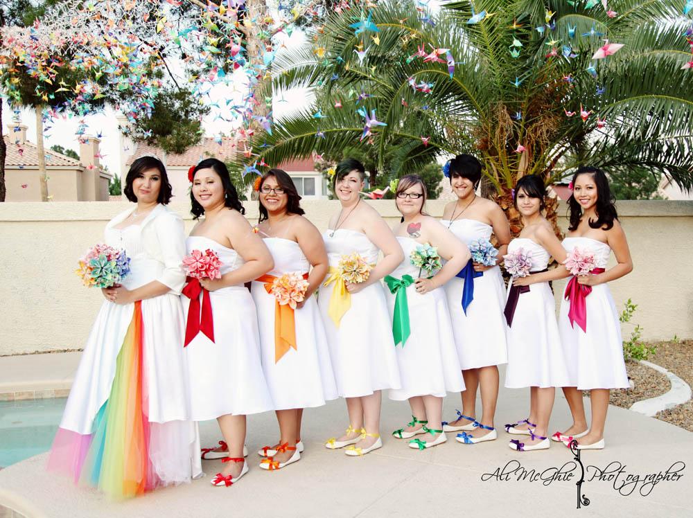 rainbow wedding dresses photo - 1