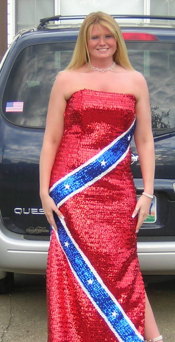 rebel flag wedding dresses photo - 1