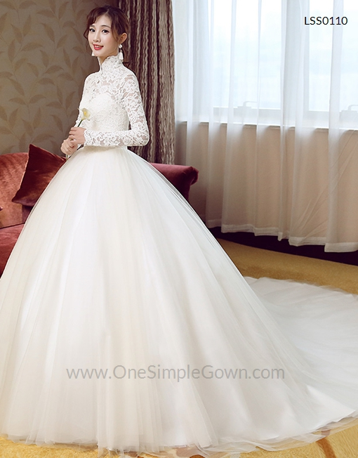 red and white lace wedding dresses photo - 1