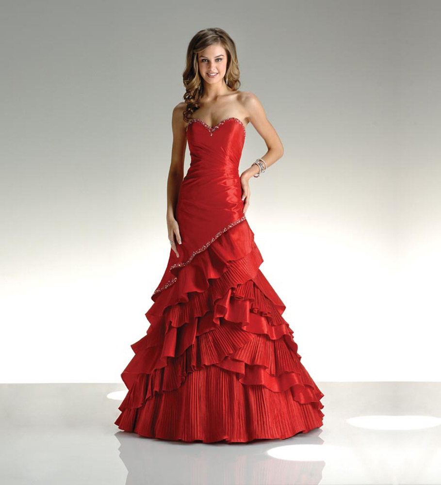 red dresses for wedding photo - 1
