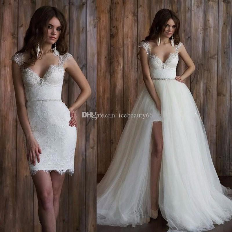 removable skirt wedding dresses photo - 1