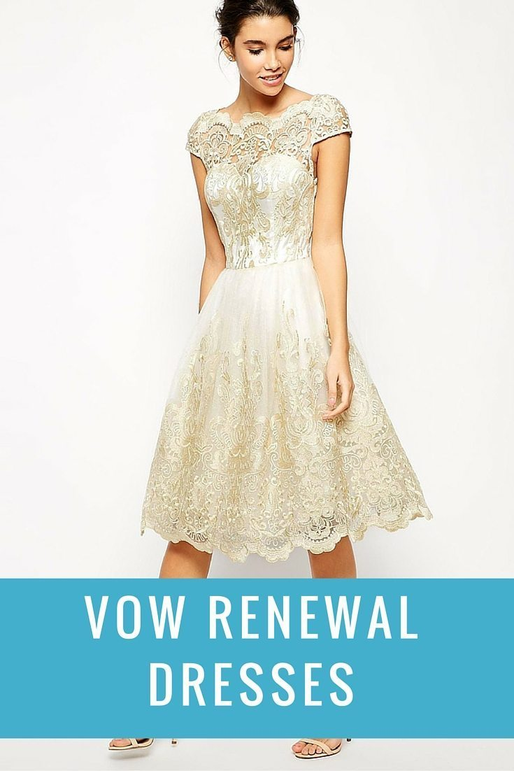 renew wedding vows dresses photo - 1