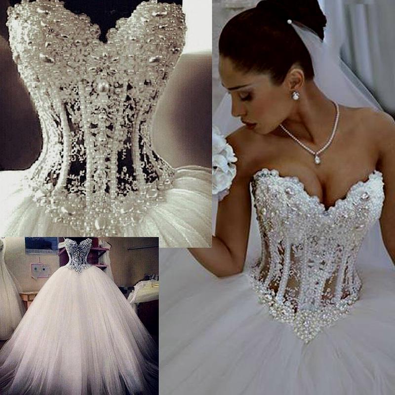 rhinestone ball gown wedding dresses photo - 1