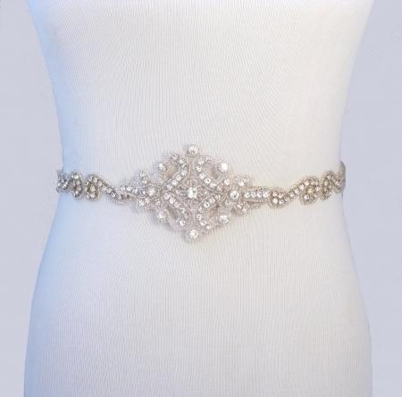 rhinestone sashes for wedding dresses photo - 1