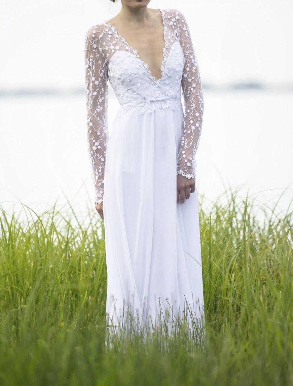 romantic bohemian wedding dresses photo - 1