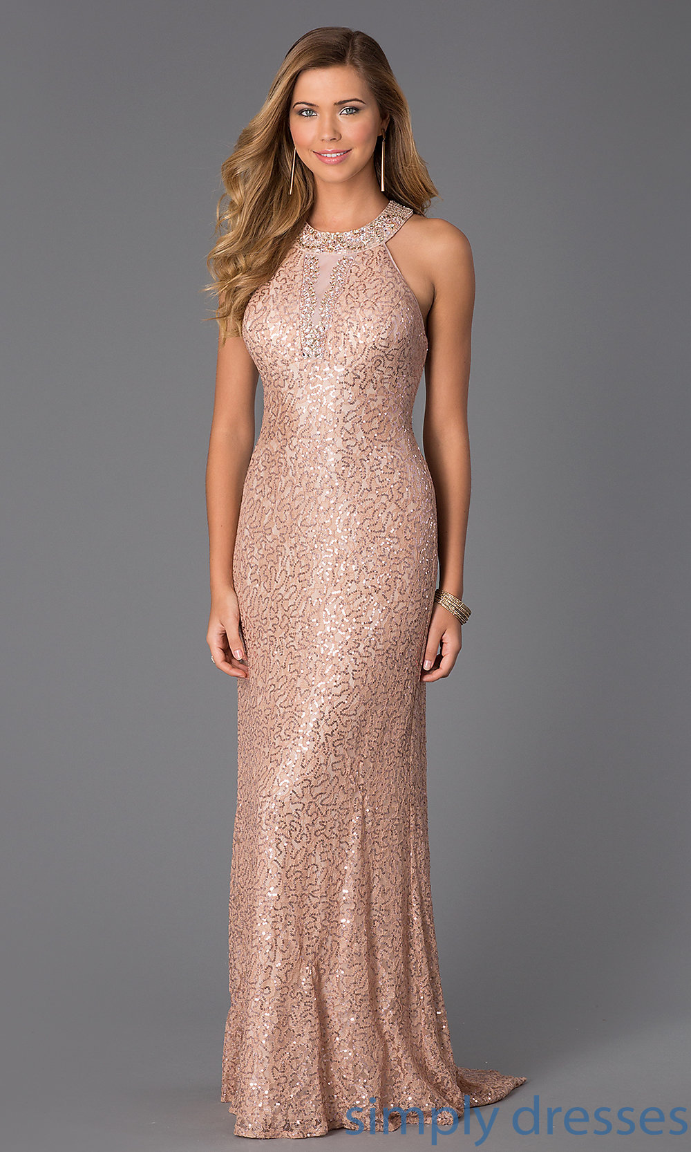 rose gold evening dresses photo - 1