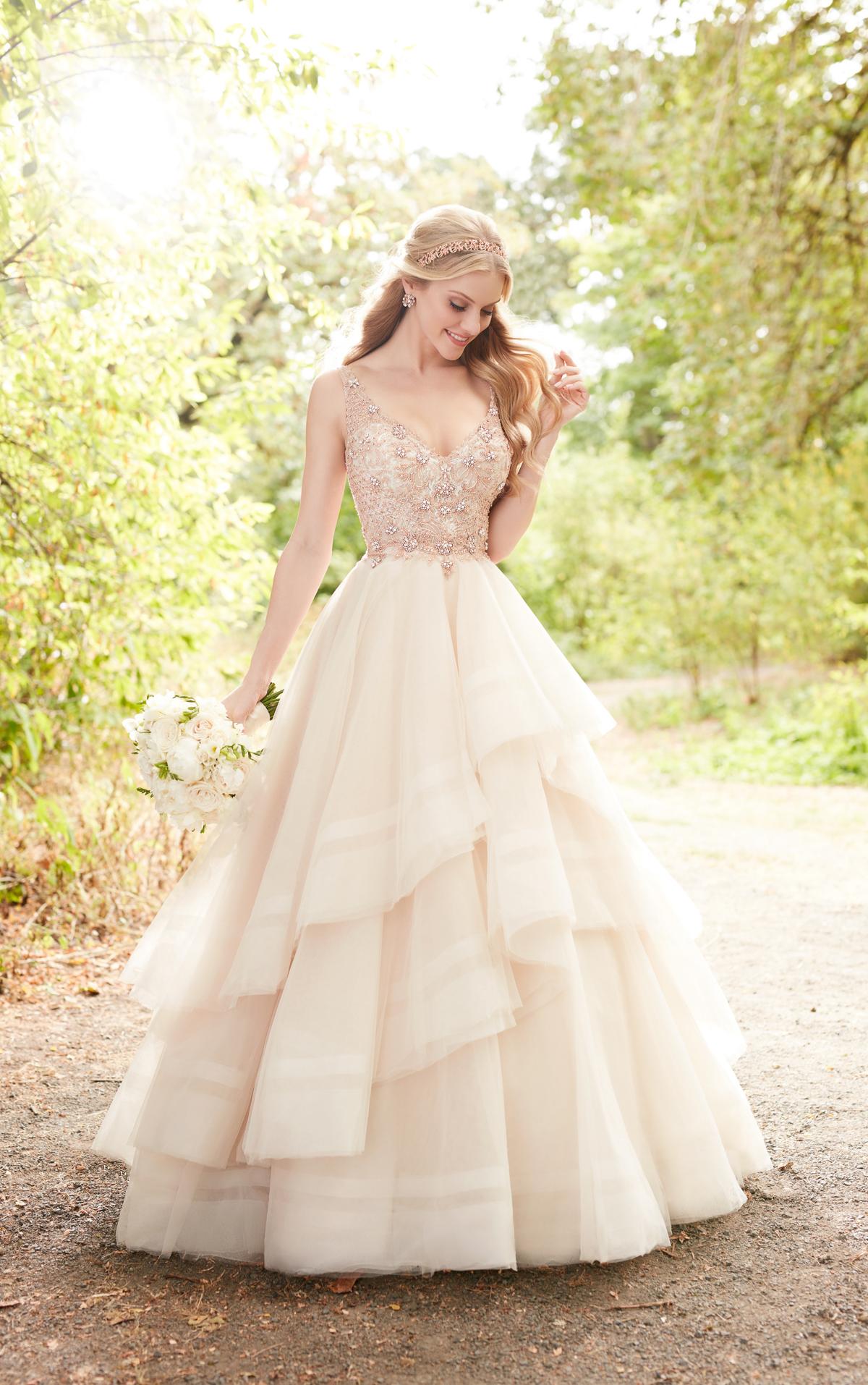 rose pink wedding dresses photo - 1