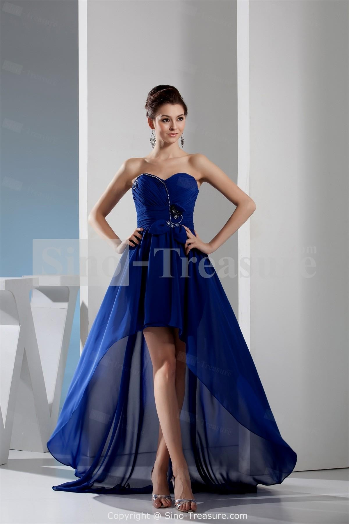 royal blue and silver wedding dresses photo - 1