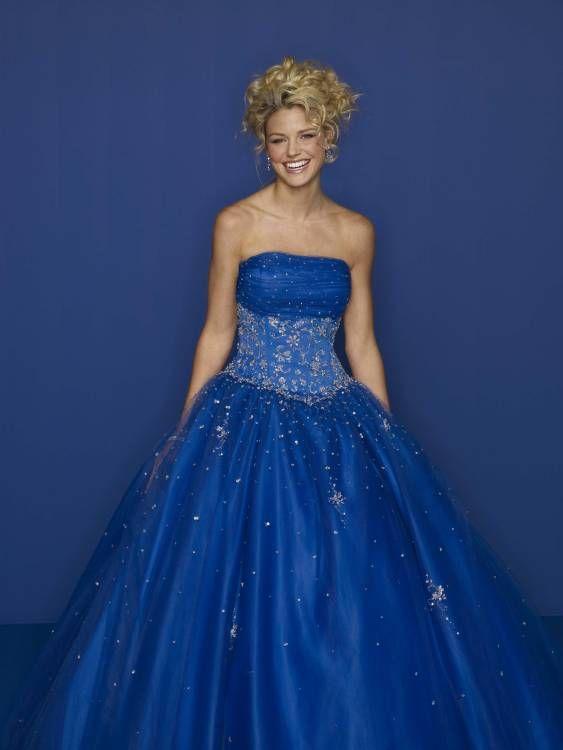 royal blue dresses for wedding photo - 1