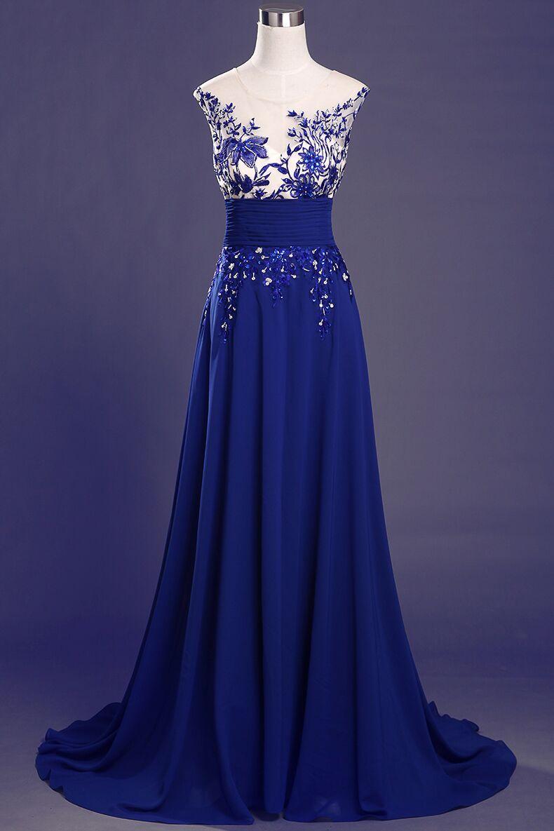 royal blue evening dresses photo - 1
