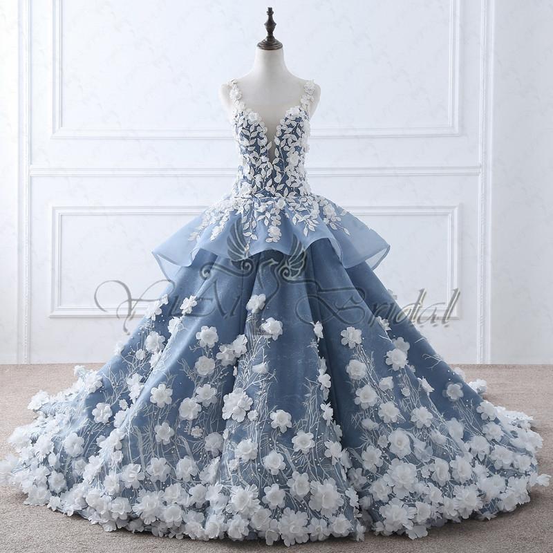 royal blue wedding dresses photo - 1