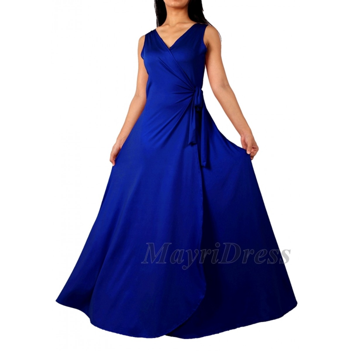 royal blue wedding dresses plus size photo - 1