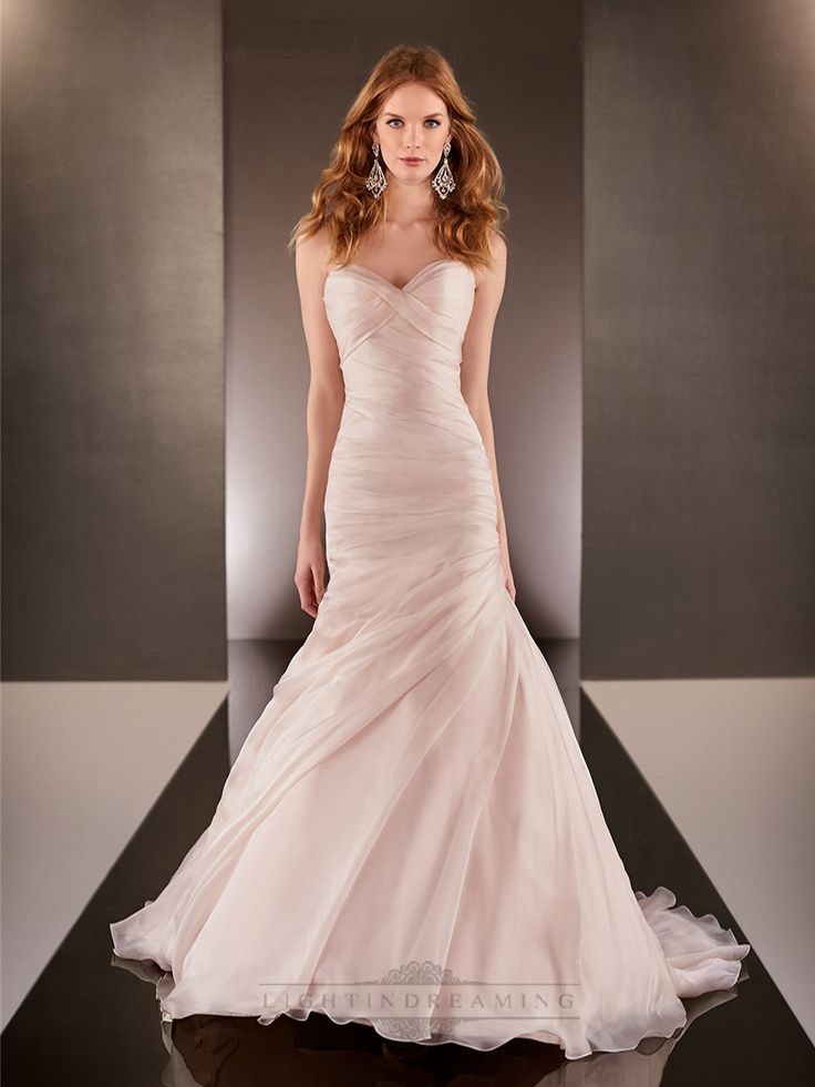 ruched wedding dresses photo - 1